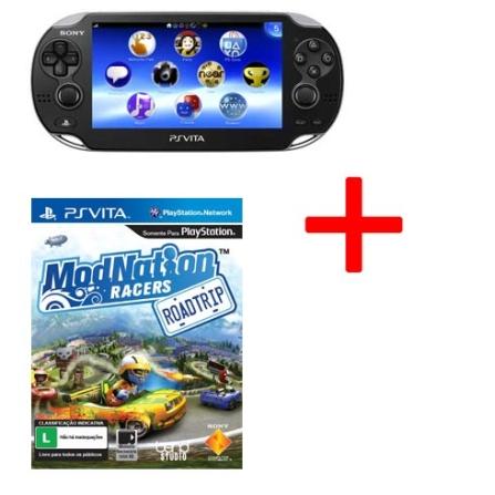 Playstation Vita Preto + Jogo Modnation Racers para PS Vita, GM