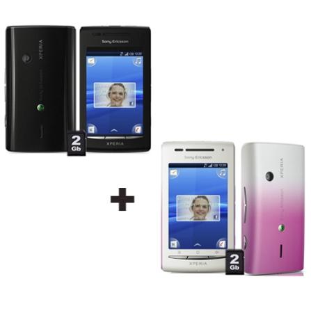 Smartphone Sony Ericsson  Xperia X8 Branco com Tecnologia 3G, Touch 3