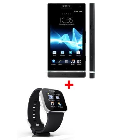 Smartphone Sony Xperia S Preto com Display HD de 4,3