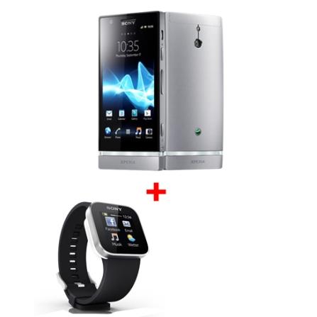 Smartphone Sony Xperia P Prata com Display de 4.0