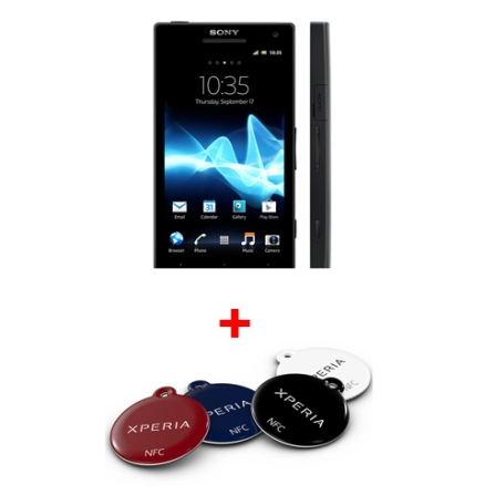 Smartphone Sony Xperia S Preto com Display HD de 4,3