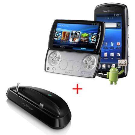 Smartphone Sony Ericsson XperiaPlay + Base de Mesa