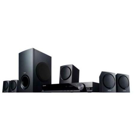 Home Theater Sony DAVTZ135 com 5.1 Canais, Potência de 300W RMS, Bravia Sync, Decodificadores de Áudio e Entrada USB