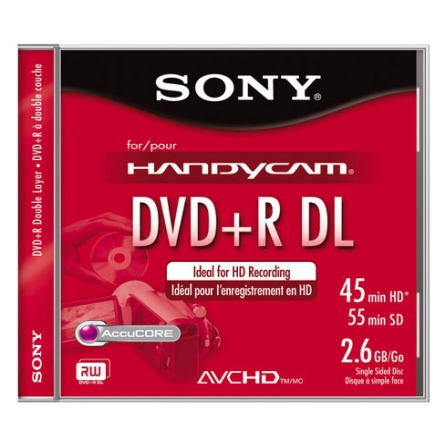 Mídia DVD+R 2.6GB 55 Min. Double Layer - Sony - DPR55DLL1H