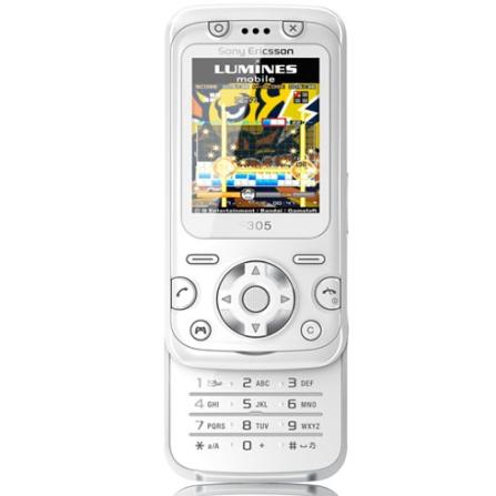 Celular GSM F305 Branco com Câmera 2.0 MP / MP3 Player / Rádio FM / Jogos 3D - Sony Ericsson