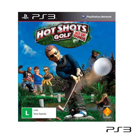 Jogo Hot Shots Golf Out Of Bounds para Playstation 3, Não se aplica, PlayStation 3, Esportes, Blu-ray, Livre, Não especificado, Não especificado, 03 meses