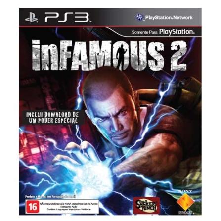 Jogo Infamous 2 para Playstation 3, Não se aplica, PlayStation 3, Ação, Blu-ray, 16 anos, Não especificado, Não especificado, 03 meses