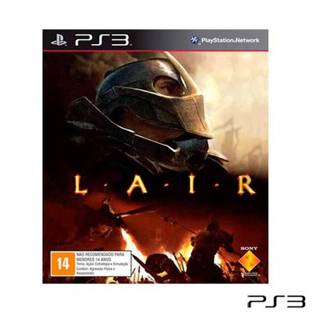 Jogo Lair para PlayStation 3, Não se aplica, PlayStation 3, Ação, Blu-ray, 14 anos, Não especificado, Não especificado, 03 meses