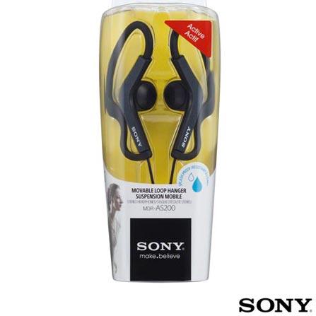 Headphone Esportivo Preto - SONY - MDRAS200
