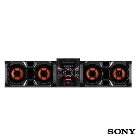 Mini System Sony 1100W RMS Duplo USB