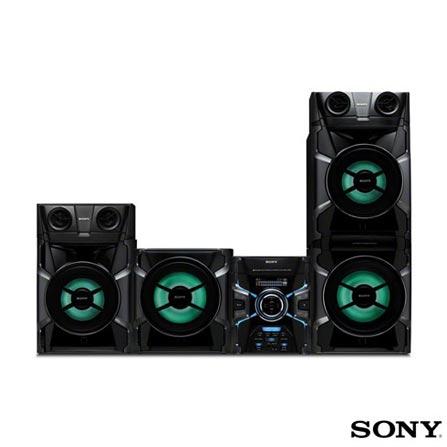 Mini System Sony 1200W RMS Bandeja para 3 CDs