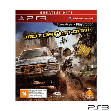 Jogo Motor Storm para PlayStation 3, Não se aplica, PlayStation 3, Simulador de Corrida, 03 meses