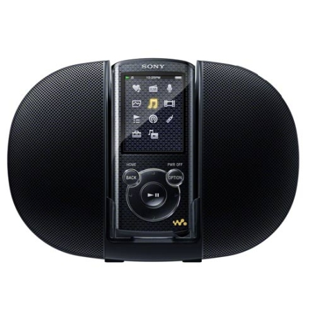 MP4 Walkman Sony NWZE463 Preto com Dock Station, Memória de 4GB, Display LCD QVGA de 2