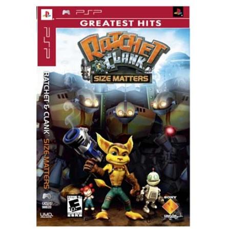 Jogo Ratchet & Clank Size Matters para PSP - PSPRCLAMATTE