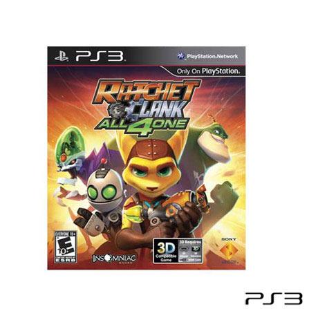 Jogo Ratchet & Clank: All 4 One para PlayStation 3, Não se aplica, PlayStation 3, Aventura, Blu-ray, 10 anos, Inglês, Não especificado, 03 meses