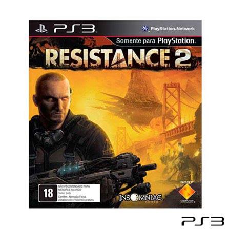Jogo Resistance 2 para PlayStation 3, Não se aplica, PlayStation 3, Tiro em Primeira Pessoa, Blu-ray, 18 anos, Não especificado, Não especificado, 03 meses
