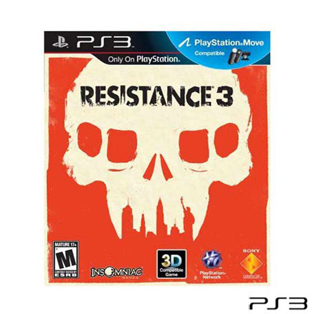 Jogo Resistance 3 para PlayStation 3 Sony, GM, Shooter, PlayStation 3