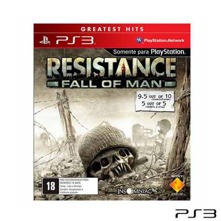 Jogo Resistance: Fall of Man - PS3 Sony, GM, Shooter, PlayStation 3