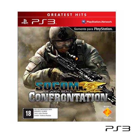 Jogo Socom US Navy: Navy Seals Confrontation para PlayStation 3, Não se aplica, PlayStation 3, Shooter, Blu-ray, 18 anos, Não especificado, Não especificado, 03 meses