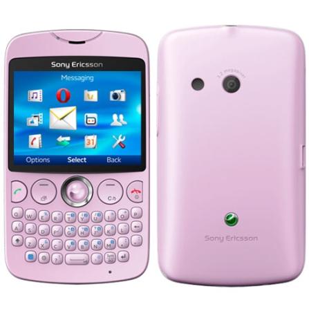 Celular Sony Ericsson TXT Rosa com Câmera de 3.2MP