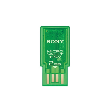 Pen Drive Micro Vault Tiny 2Gb Verde - Sony - USM2GH