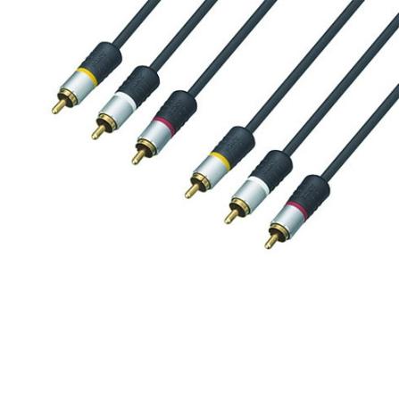 Cabo de Áudio e Vídeo HI-FI com Conector RCA / 1,5 Metros de Extensão - Sony - VMC_815CS