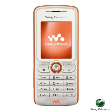 Celular GSM W200 Branco com Câmera VGA, Rádio FM e Cartão de Memória 128Mb - Sony Ericsson