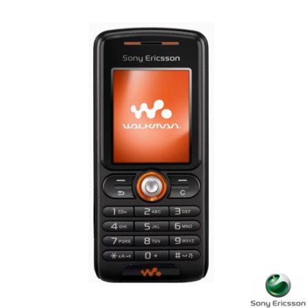 Celular GSM W200 Preto com Câmera VGA, Rádio FM e Cartão de Memória 256Mb - Sony Ericsson