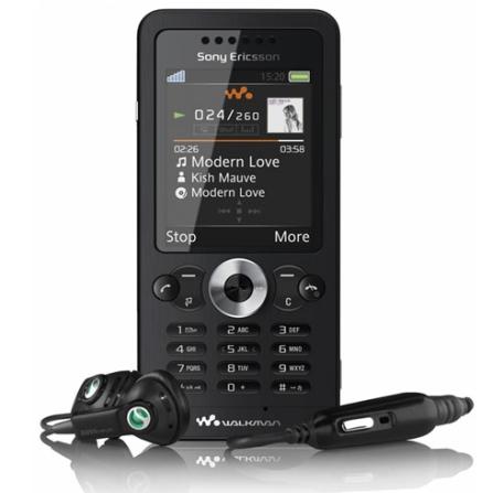 Celular GSM W302 Preto com Câmera 2.0 MP / MP3 Player / Rádio FM / Jogos 3D / Cartão de 512 MB - Sony Ericsson