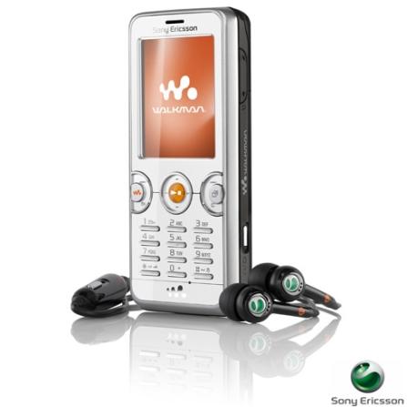 Celular GSM W610 Walkman Preto e Prata com Câmera 2.0MP / MP3 Player / Bluetooth / Cartão de 512MB - Sony Ericsson