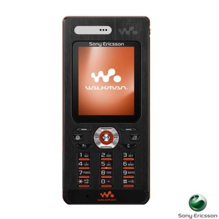 Celular GSM W880i Walkman Preto e Laranja com Câmera de 2.0, Tocador de MP3, Bluetooth e Memory Stick de 1GB - Sony Ericsson