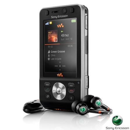 Celular Sony Ericsson GSM Com Câmera de 2.0 MP / MP3 Player / Track ID / Bluetooth - W910, Bivolt, Bivolt, 0000003.30, False, 1, N, True, True, True, False, True, False, I