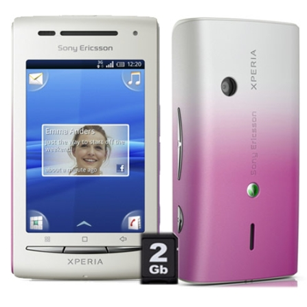 Smartphone Xperia X8 com 3G + Wi-Fi, Android 2.1, Bivolt, Bivolt, Branco, 3.0'', True, 1, N, True, True, True, True, True, False, I, Micro Chip
