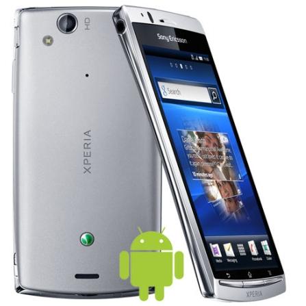 Smartphone Sony Ericsson Xperia ARC S Prata