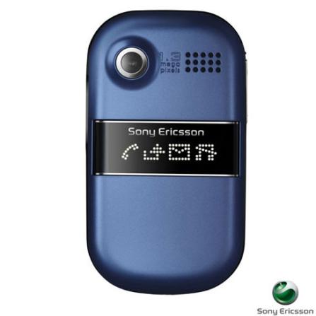 Celular GSM Z320 Azul com Câmera de 1.3 MP / Toques em MP3 / Memória Interna de 12 MB - Sony Ericsson, Bivolt, Bivolt, Azul, 0, False, 1, N, False, False, False, False, False, False, I, 12 meses, Micro Chip