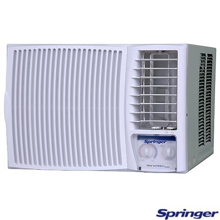 Condicionador de Ar Janela 10.000Btus / Mecânico / Quente/Frio / Branco - Minimax  Springer - FQA105BB, LA, 10.000 BTUs, Janela, 9.000 a 11.500 BTUs
