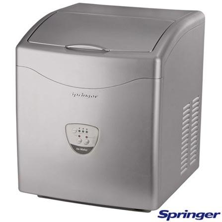 Máquina de Gelo Ice Maker Springer Prata - ICMA0158B, 110V, 220V, Inox, 12 meses