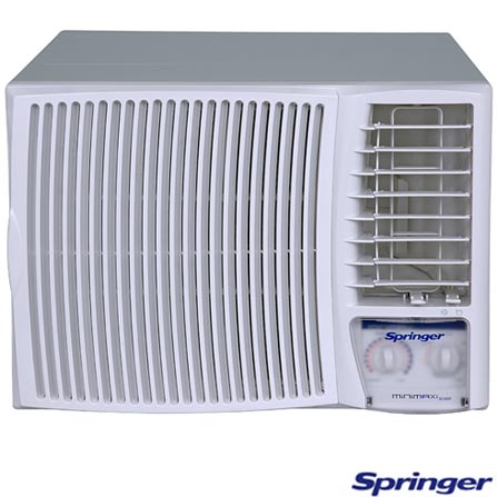 Condicionador de Ar Janela 12.000Btus / Mecânico / Frio / Branco - Minimax Springer - MCC128BB, 110V, 220V, LA, 12.000 BTUs, Janela, 12.000 a 18.500 BTUs