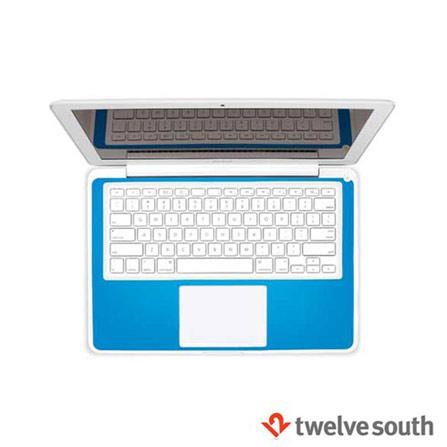 """Capa Protetora para MacBook 13"""" e MacBook Pro em Couro Azul - Twelve South - 121008, Branco e Azul, Capas, Cases e Mochilas, Couro, 06 meses"""
