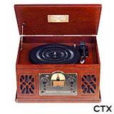 Toca-discos CTX com USB, Entrada para Cartão SD, 10 W RMS – TDCTXBRAVO