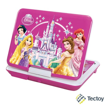DVD Player Portátil Tec Toy Castelo Luminoso Princesas DVT-P3110 com Tela LED 7