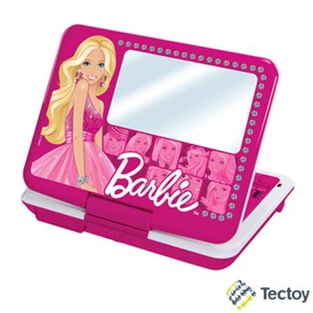 DVD Player Portátil Tec Toy Camarim Fashion Barbie DVT-P3110 com Tela LED 7