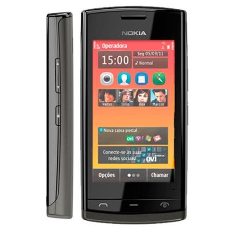 Smartphone Tim Nokia 500 com 3G + Wi-Fi, Câmera de 5MP, Tela de 3.2