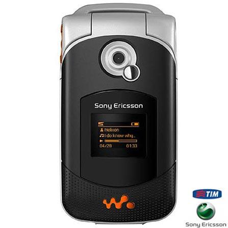 Celular GSM TIM (DDD 11) W300i Walkman Preto com Câmera VGA / Rádio FM / Cartão de 256MB - Sony Ericsson