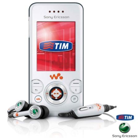 (Não ativar PÓS) Celular GSM TIM W580i Walkman Branco com Câmera de 2.0 MP / Tocador de MP3 / Bluetooth e Cartão de Memó