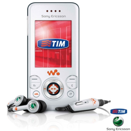 Celular GSM TIM W580i Walkman Branco com Câmera 2.0MP / MP3 Player / Rádio FM / Bluetooth e Cartão de 512MB - Sony Erics