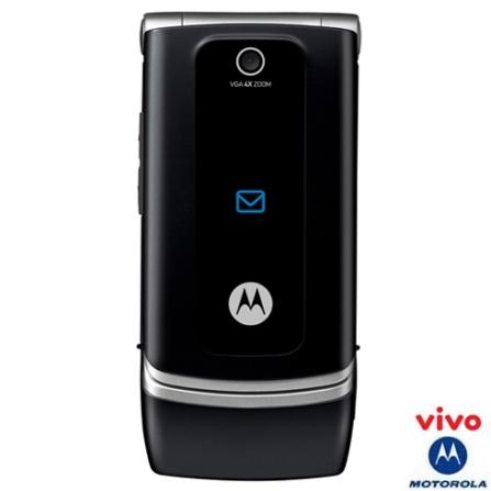 Celular GSM VIVO (DDD 11) W375 Preto com Câmera VGA e Rádio FM - Motorola