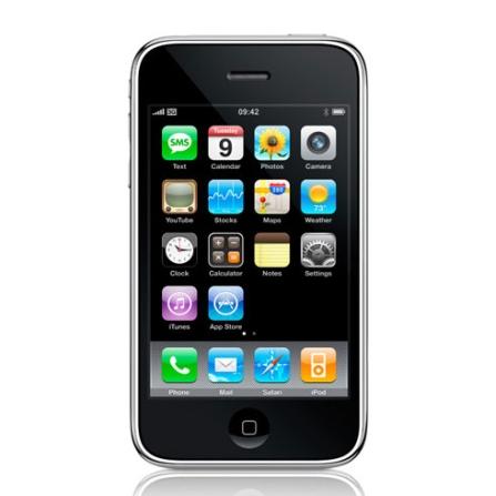 (pós) iPhone 3G com GPS Integrado / Câmera de 2.0MP / MP3 Player / Visualizador de Arquivos Word, Excel e PDF / Memória