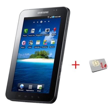 Tablet Samsung Galaxy Tab Vivo Preto com Tecnologia 3G, Câmera 3.2MP, Display de 7