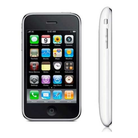 (ver TPCJ11RIPH16BC) iPhone 3Gs Branco com Memória de 16GB / Função Smartphone e GPS Integrado / Câmera 3.0MP / Grava Ví